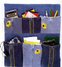 Denim locker organizer